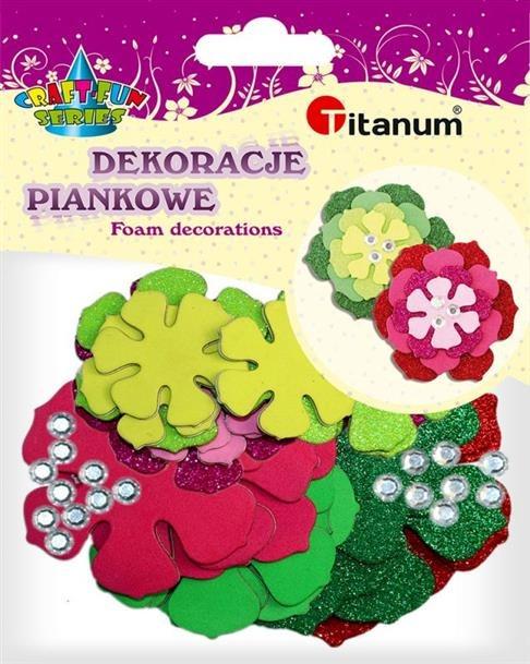 Kwiaty Piankowe Kreatywny Zestaw 6szt Craft Fun