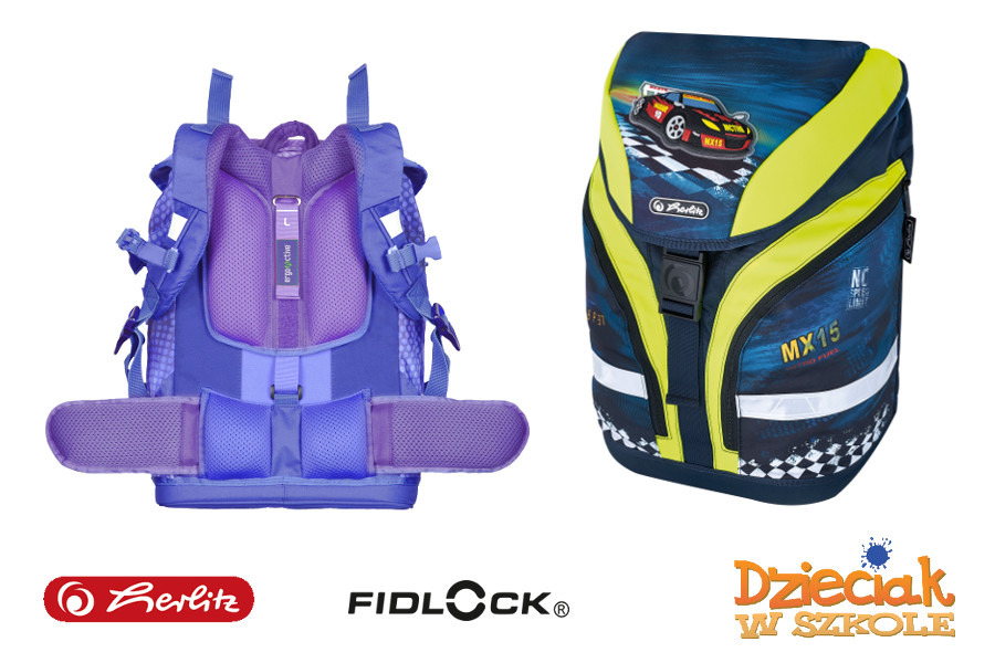 4f641ca3df8fd Plecak szkolny Motion Super Racer 7-11lat