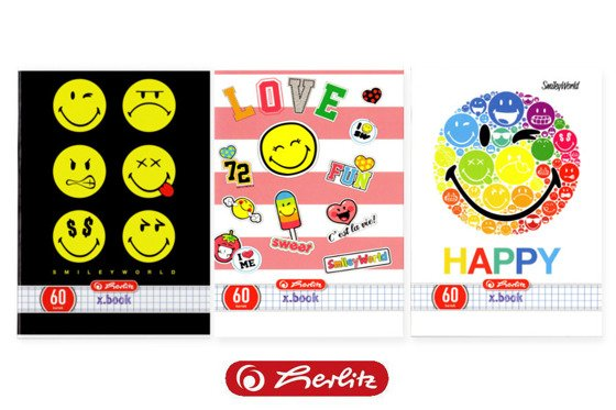 Zeszyt w kratkę Smiley.World 60 kartek, Herlitz
